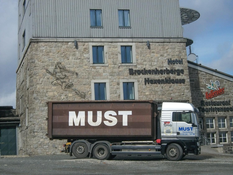 Must Container auf dem Brocken